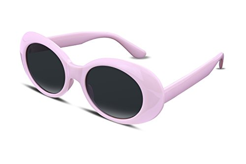 FEISEDY Candy Oval Retro Acetate Pink Frame Clout Goggles Kurt Cobain Sunglasses B2253