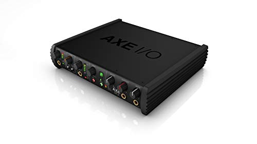 (AXE I/O 2-channel audio interface with guitar tone shaping, amp output and software recording bundle)