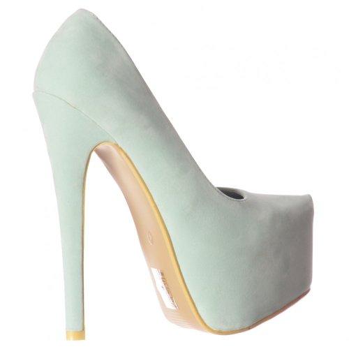 Partito Menta Nascosto Pompe Womens Ladies Tacco Camoscio Di Onlineshoe Pastello A Spillo Scarpe Piattaforma KUaq4qPz