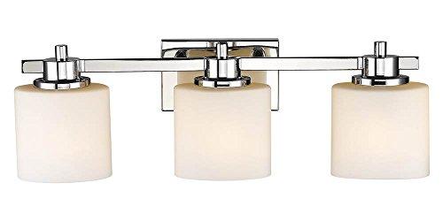 New 3 Light Bathroom Vanity Lighting Fixture Chrome: Chloe Lighting CH821036CM24-BL3 Contemporary 3 Light
