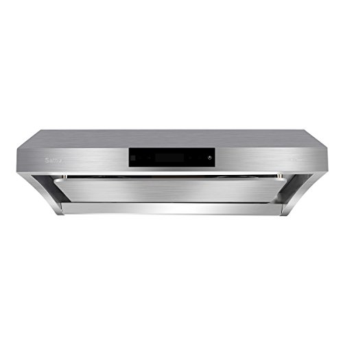 Wall-Mounted Range Hood, Sattiz 30″ 860CFM Stainless Steel Under Cabinet Kitchen Range Hood Vent Cooking Fan with Touch Control and Auto-clean