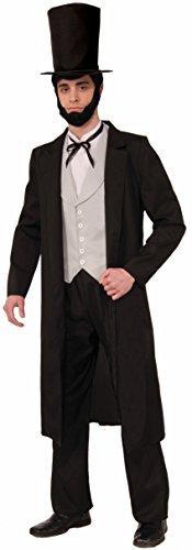 Forum Novelties Men's Abraham Lincoln Deluxe Costume, Black, (Vest With Coattails)