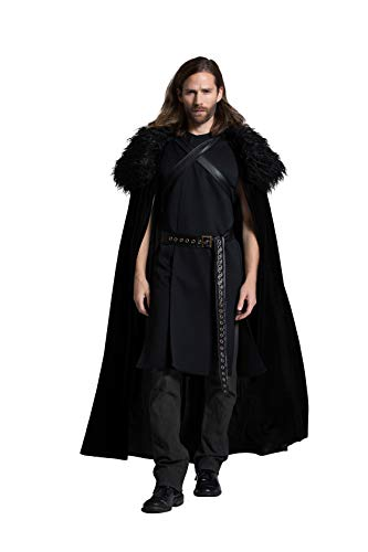 Yandy Exclusive Men's Medieval Northern King Halloween Cosplay Costume Small Black]()