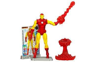 [Iron Man 2 Comic Series Classic Armor Iron Man with Blast Off Figure Stand Action Figure] (Iron Man Armor Suits)