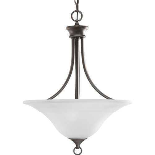 Bronze Antique Chandelier Light Three (Progress Lighting P3474-20 3-Light Hall and Foyer Fixture, Antique Bronze)
