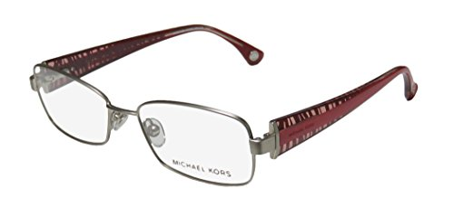 Michael Kors 499 Womens/Ladies Designer Full-rim Spring Hinges Eyeglasses/Eyeglass Frame (52-16-135, Matte Silver / - Case Michael Kors Eyeglass