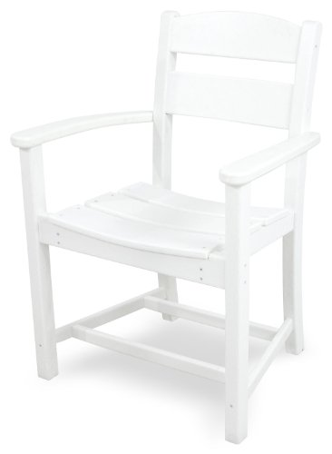 Ivy Terrace IVTD210WH Classics Dining Arm Chair, White