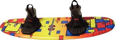 Hydroslide Junior 180 Wakeboard Blank, Yellow/Orange/Red, 125-Pound by Hydro Slide