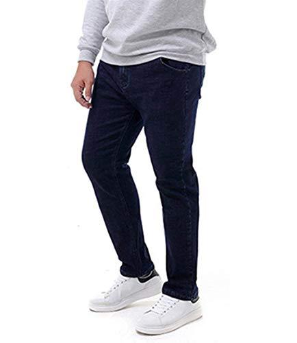 Dritti T Slim Uomo Giovane Jeans Vintage Pantaloni Casual Blau Da E Moda Denim Con wFq7nA6