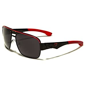 Khan New 2014 Unisex Stylish Popular Aviator Sunglasses Womens and Mens-KN39451 (Red)