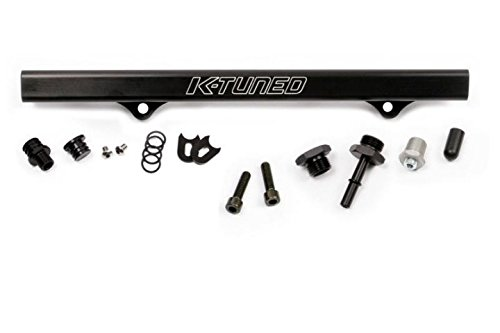 - K-Tuned Fuel Rail with EFI fittings BLACK EP3 DC5 RSX K20 K24 KRB-RSX-405