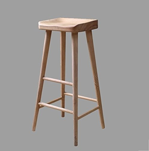 Solid wood bar stool / antique bar stool / wooden bar chairs / cafe, bar high stool ( Size : 322655CM ) by Xin-stool