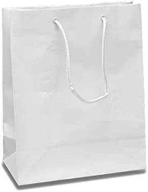 Amazon.com: Papel blanco medio bolsas de regalo de colores ...