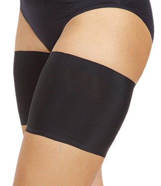 Bandelettes Elastic Anti-Chafing Thigh Bands - Prevent Thigh Chafing - Black Unisex, Size C (Lace Short In Cream)