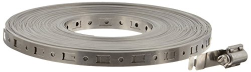 Dixon 4001 36 Piece Stainless Steel 302 Make-A-Clamp Kit with 100' Band, Adjustable Fasteners and Splices by Dixon Valve & Coupling (Image #1)'