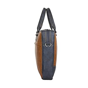K London Leatherite Handmade Tan Unisex Bag Cross Over Shoulder Messenger Bag with Laptop Compartment (1803_tan)