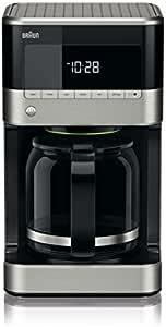 Braun KF 7120 Cafetera eléctrica semi-automática con jarra de cristal, 1000 W, 12 tazas, acero inoxidable, negro: Amazon.es: Hogar