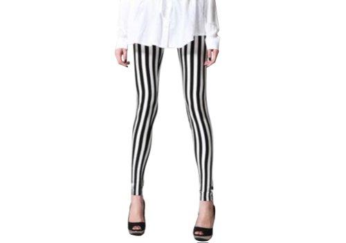 Women's Stripe Leggings Stretchy Comfortable Pants Slim Skinny, Vertical Stripe