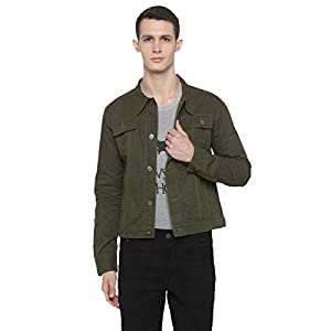 Nick&Jess Mens Over Dyed Plain Trucker Cotton Light Weight Jacket