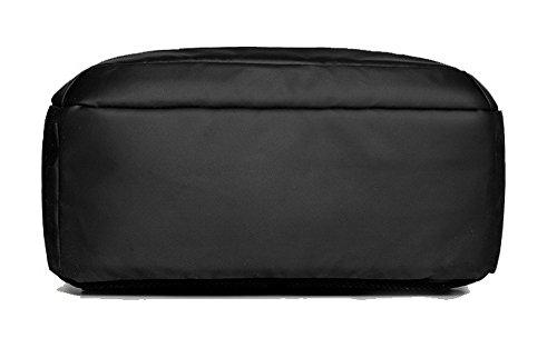 AgooLar Sacs à Daypack Saphir à bandoulière dos Noir Sacs Décontractée De École Femme GMBBB181641 r04pr