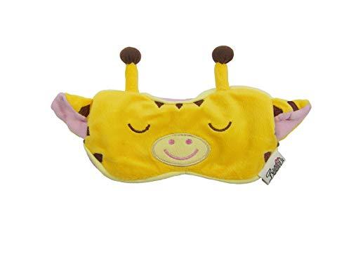 Eye Mask Shades Blindfold Sleeping Warm Cold Gel Pack Travel Comfortable Night's Bestever (Giraffe-Yellow)