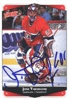 - Jose Theodore Montreal Canadiens 1999 Victory Autographed Card. This item comes with a certificate of authenticity from Autograph-Sports. Autographed