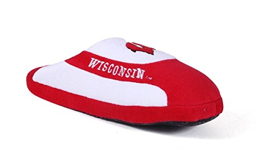 College Happy Mens Feet Womens NCAA LICENSED Low and Badgers Wisconsin Pro OFFICIALLY Slippers wRrr0qn41