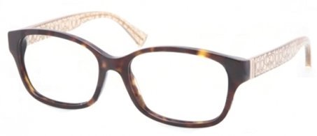 COACH Eyeglasses HC 6049 5152 Dark TortoiseCrystal Brown 54MM