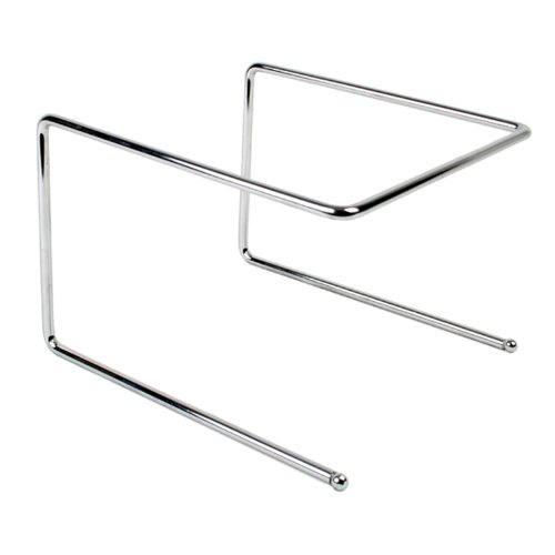 Pizza Tray Stand - Excellante Pizza Tray Stand, Chrome Plated, 9-1/2 by 9 by 6-1/2-Inch