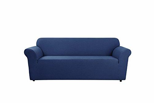 T-cushion Chair Stretch Slipcover (SureFit SF45926 Stretch Delicate Leaf  Chair Slipcover, Recliner, 1-Piece, Storm)