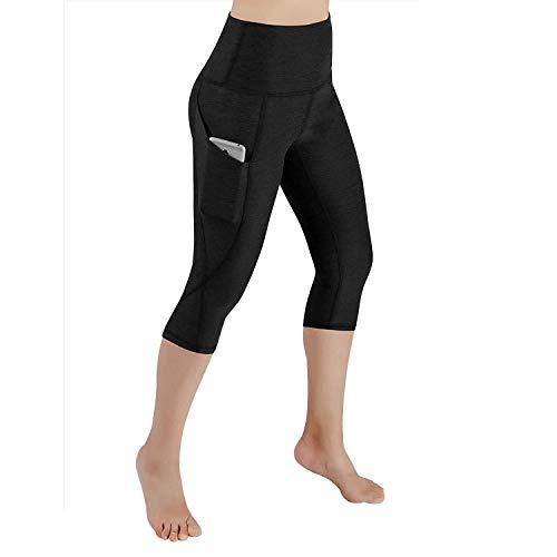 Lome123 Women Yoga Fitness Running Gym Stretch Sports Pants Trousers Leggings Black