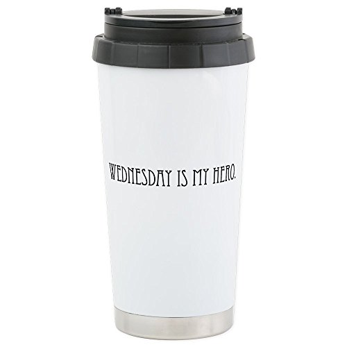 CafePress - Wednesday is my Hero Stainless Steel Travel Mug - Stainless Steel Travel Mug, Insulated 16 oz. Coffee Tumbler