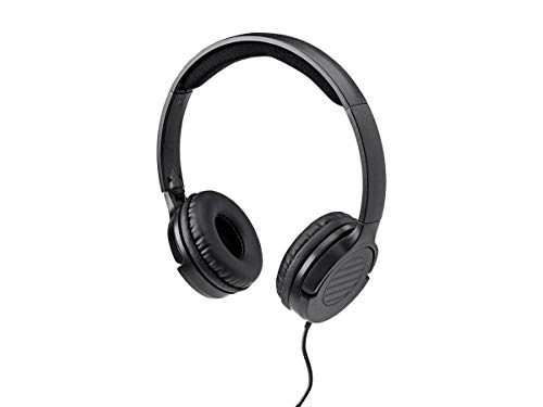 Monoprice Hi-Fi Lightweight On-Ear Headphones with in-Line Play/Pause Controls and Built-in Microphone