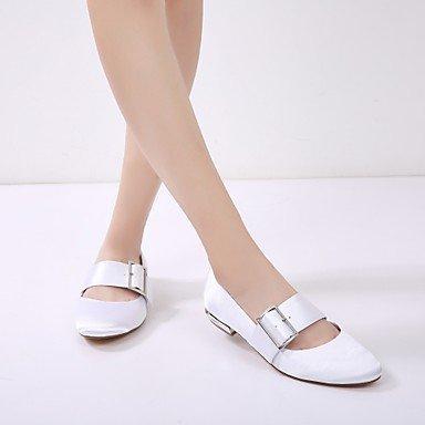eu37 Primavera Bailarina para y Mujer Dedo regalo Plano Corbata mejor boda Zapatos madre de de Verano mujer Lazo Satén Vestido Hebilla El 5 Zapatos 7 para 5 5 uk4 Tacón Confort redondo Boda us6 nzAS7Sq