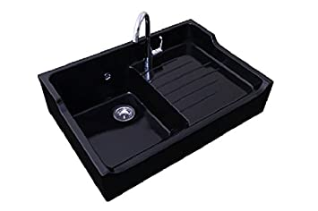 Sink 1 bowl Grand Siecle Black Ceramic - - Amazon.com