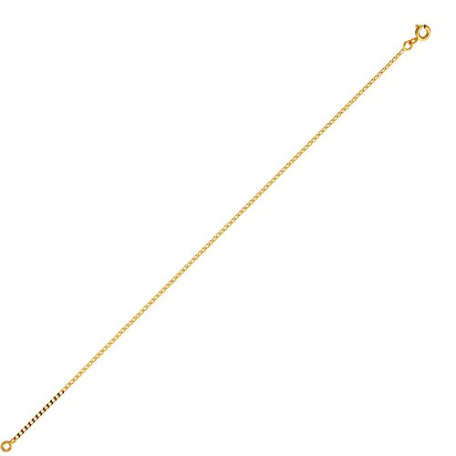 DIAMANTLY Collier or 750 gourmette claire 1,4 mm - 45 cm