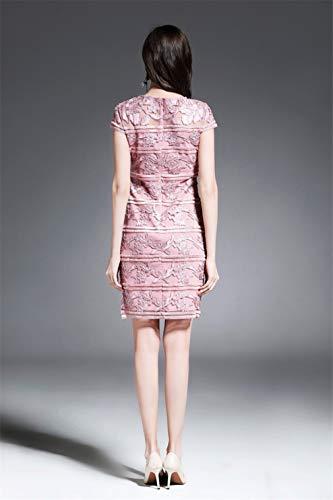 Formal Short Pink Dresses cotyledon Neck Scoop Women`s Dress Body com Sleeve xppFqw68