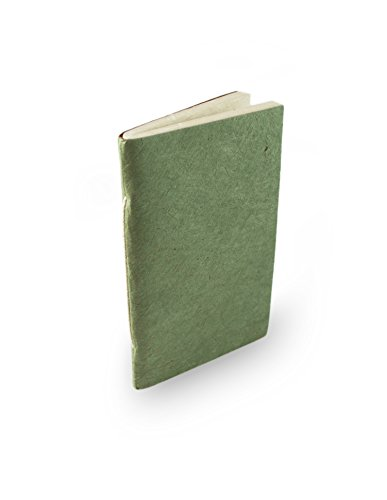 Nepali Companion Pocket Notebook with Handmade Paper and Vegetable-Dyed Cover. Made in Nepal (Small, Sage)