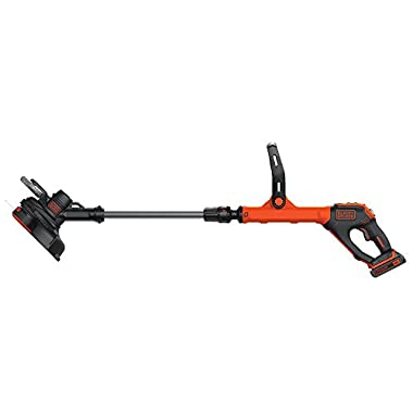 BLACK+DECKER LSTE525 20V Max Lithium Easy Feed String Trimmer/Edger with 2 Lithium-Ion Batteries
