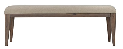 Cortesi Home Leno Bench with Neutral Linen Fabric by Cortesi Home (Image #1)