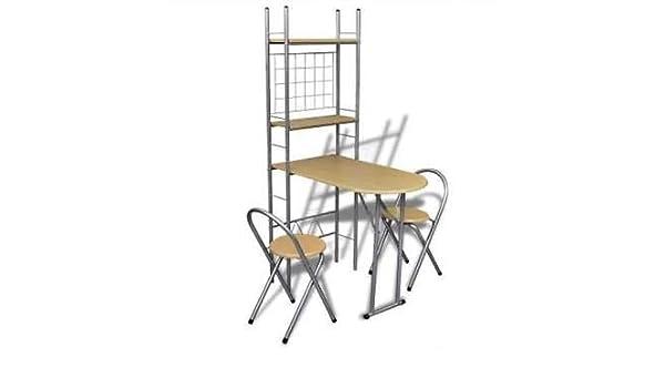 para Oficina 3 Piezas Juego de Muebles compactos para Mesa de Cha de Gen/érico Compacto Oficina Cocina Plegable Juego de estanter/ías para el Casco
