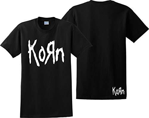 - Korn T Shirt Metalica Nirvana Slipknot Misfits Metal Rock Music Tee Shirts Black