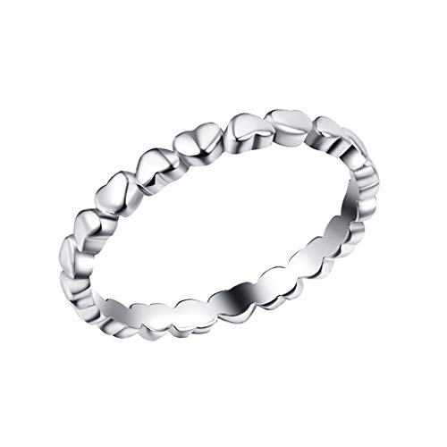 925 Sterling Silver Stackable Rings Diamond Eternity Ring for Women Finger Ring Memorial Jewelry