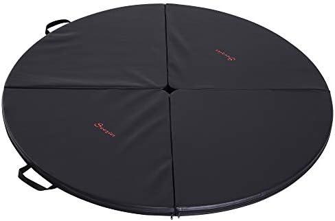 Soozier 2 T x 5 W Round Folding Portable Pole Dance Crash Mat – Black