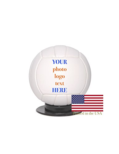 (Custom Personalized Mini Volleyball - 6 Inch Mini Sized Volley Ball - Ships in 3 Business Days, High Resolution Photos, Logos & Text on Volleyballs - for Trophies, Personalized Gifts)