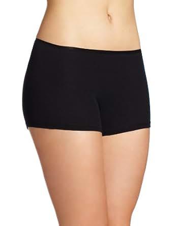 Hanro Women's Cotton Seamless boyleg Panty, Black, X-Small