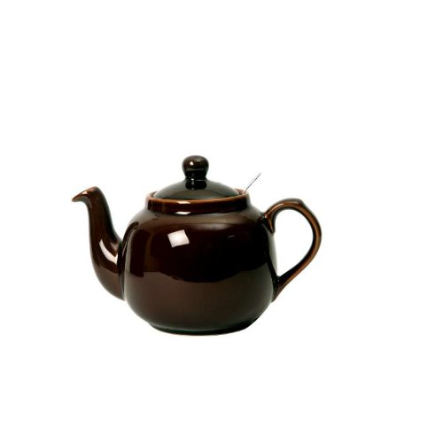 Globe London Pottery 6 Cup Brown Filter Teapot 17274140