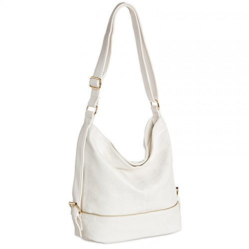 Womens for Messenger CASPAR Bag Format Shoulder Small Bag TS732 White A4 5wgqR