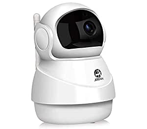 1080P Wirelss Security Camera JOOAN 2MP HD WiFi Home Security Surveillance System for Pet Elder Nanny Baby Monitor with Two Way Audio Night Vision Motion Detection IP Dome Camera-White