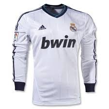 Adidas Real Madrid Home Jersey Long Sleeve 2012-13 Size Medium W41762 CAMISETA REAL MADRID